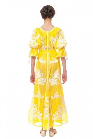 Foberini Kiss Of The Sun Vyshyvanka Style Ukrainian Folk Maxi Dress