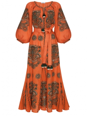 Foberini Rochie maxi Victory Chic Terracota Dress