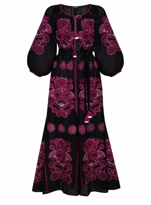 Foberini women's victory chic black maxi dress