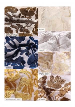 Bluza dama tip ie stilizata cu broderie florala folk Copacul Vietii -alb cu broderie alba Florii