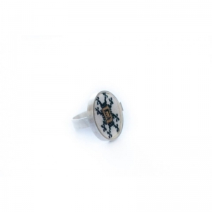 Guiding Star traditional motif silver ring