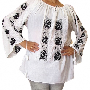 Handmade rare needlework peasant blouse