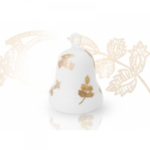 Handpainted with pure gold Porcelain Bell Grifon Wagner Arte