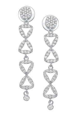 Infinite column  silver earrings