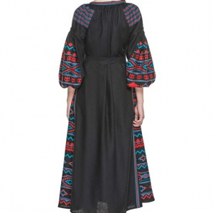 Infinity embroidered linen dress- Last in Stock