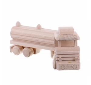 Jucarie din lemn camion cisterna
