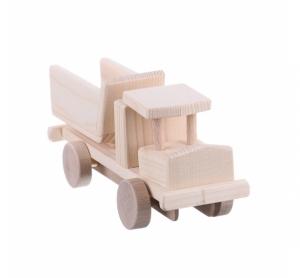 Jucarie din lemn camion cu bascula model mic