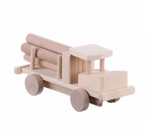 Jucarie din lemn camion cu busteni model mic