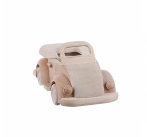 Jucarie din lemn masina clasica decapotabila VW Beetle