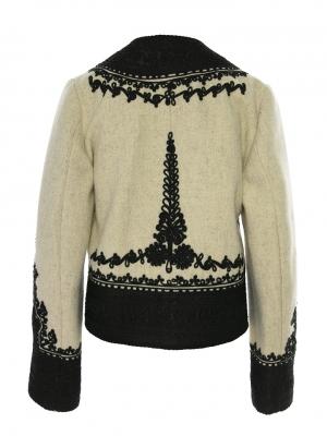 Martha Bibesco Wool and cashmere traditional handmade Romanian design jacket