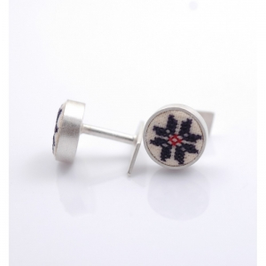 Butoni argint Steaua cu 8 colturi