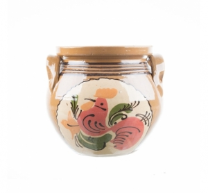 Oală de ceramică pictată manual 2,5 l