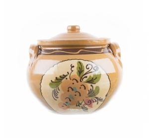 Oală de ceramică pictată manual 7 l