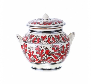Oala pentru servit Ciorba ceramica rosie de Corund