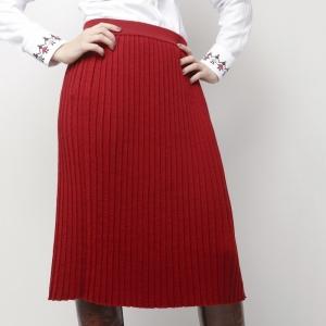Red Pleated Skirt Alisia Enco