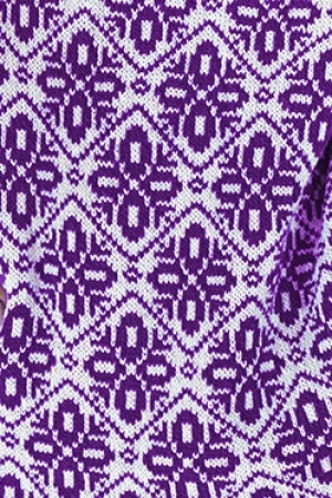 Ie tricotata pulover romanesc model traditional violet