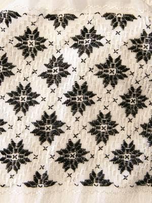 Ie Traditionala Romaneasca cusuta manual cu broderie din matase neagra