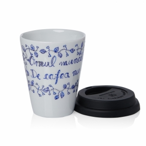 Mug De Cafea De Portelan Albastru