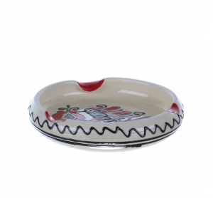 Scrumiera ceramica rosie de Corund 11 cm