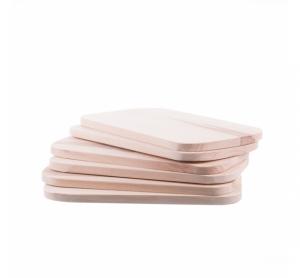 Set 6 tocătoare mici din lemn / funduri pentru servit