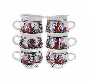 Set cani vin ceramica colorata Corund 6 x 300 ml