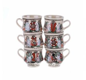 Set cani vin ceramica colorata Corund 6 x 400 ml