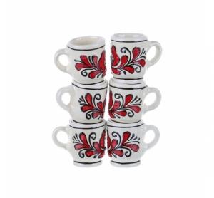 Set canute tuica ceramica rosie de Corund 6 x 40 ml