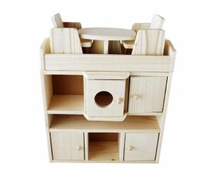 Set mobilier din lemn sufragerie pentru papusi