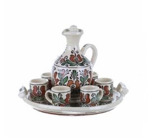 Set tuica ceramica colorata Corund