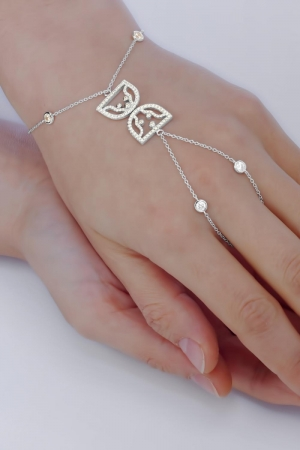Silver Bracelet The Hourglass