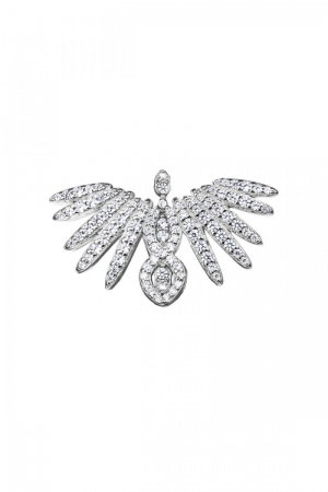Silver broche Phoenix