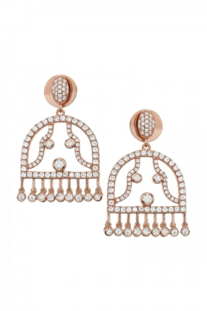 Silver design earrings Eva gold