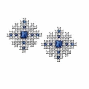 Cercei argint Fulg in Cruce Claudia Florentina