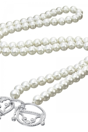Silver shell pearl necklace Amour The Couple Claudia Florentina