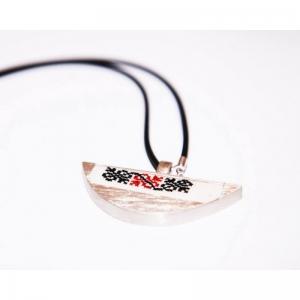 Snowflake ear silver  handmade pendant