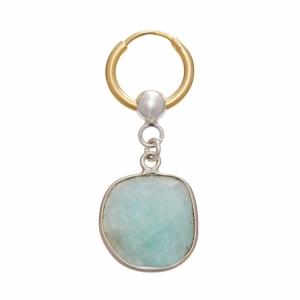 Stone Hoop Turquoise Earing
