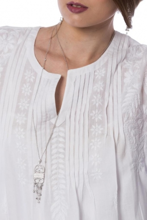 Camasa alba cu motive traditionale XI Claudia Florentina