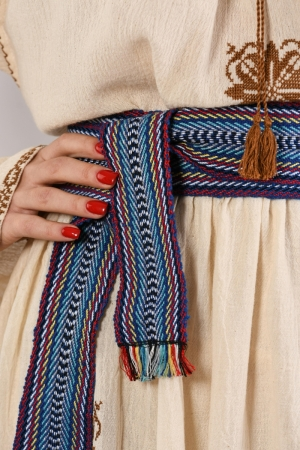 Textile woven belt