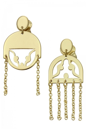 The couple gold earrings short 14k gold