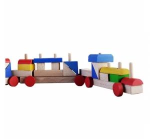 Trenuleț colorat din lemn