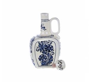 Ulcior cu capac ceramica albastra de Corund 500 ml