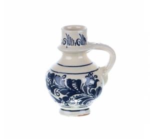 Ulcior mic ceramica albastra de Corund 200 ml Model 2