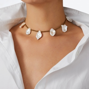 Unusual Pearls Necklace