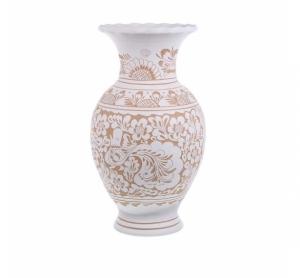 Vaza de ceramica alba de Corund 40 cm