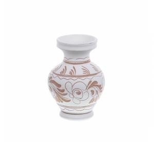 Vaza de ceramica alba de Corund 9,5 cm Model 2