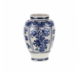 Vaza de ceramica albastra de Corund 22 cm