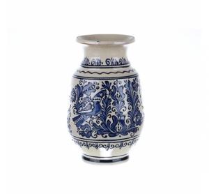 Vaza de ceramica albastra de Corund 26 cm