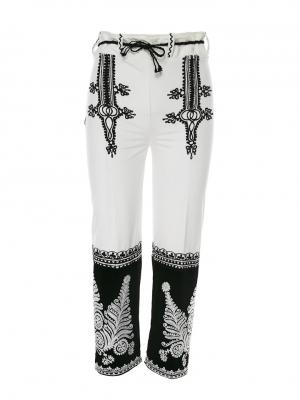 Pantaloni catifea cu broderie traditionala Gorj 1