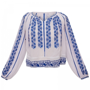 Vintage 1960 Romanian Blouse - Rare Find