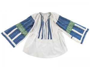 Vintage Romanian Embroidered Blouse